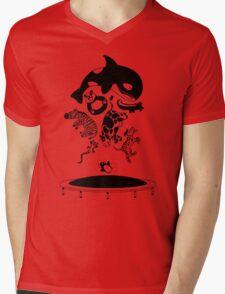 Bouncing Animals Mens V-Neck T-Shirt