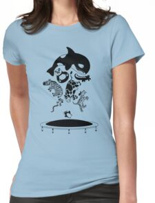 Bouncing Animals Womens Fitted T-Shirt