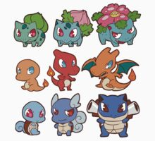 Kanto Poke Chibi Party Kids Clothes