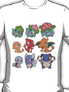 Kanto Poke Chibi Party T-Shirt
