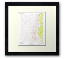 USGS TOPO Map Arizona AZ Olaf Knolls 312696 1971 24000 Framed Print