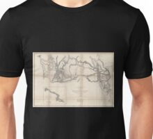 0075 Railroad Maps Rocky Mountains to Puget Sound from explorations and Unisex T-Shirt