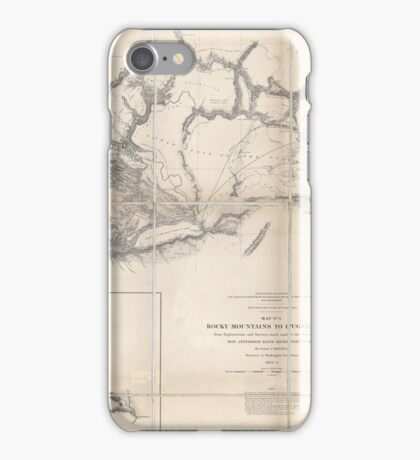 0075 Railroad Maps Rocky Mountains to Puget Sound from explorations and iPhone Case/Skin