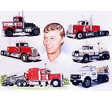 A Man and His Trucks Photographic Print