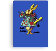 Ask Alice - The White Rabbit 2 - Alices Adventures in Wonderland Canvas Print