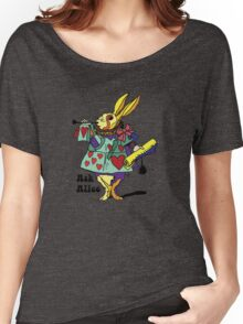 Ask Alice - The White Rabbit 2 - Alices Adventures in Wonderland Women's Relaxed Fit T-Shirt