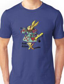 Ask Alice - The White Rabbit 2 - Alices Adventures in Wonderland Unisex T-Shirt