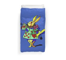 Ask Alice - The White Rabbit 2 - Alices Adventures in Wonderland Duvet Cover