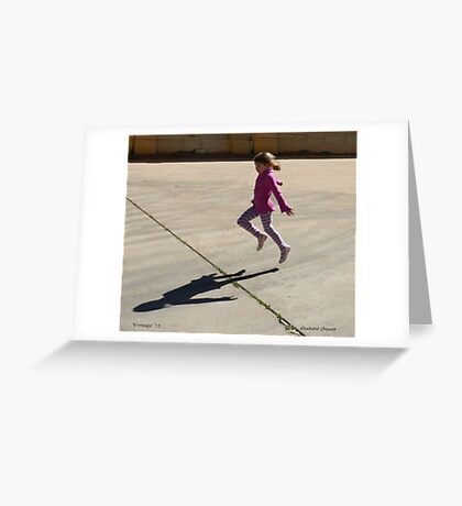 Shadow Chaser Greeting Card