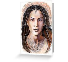 Young elven prince Greeting Card