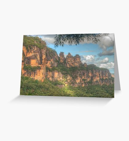 The Three Sisters ... with leaves Greeting Card