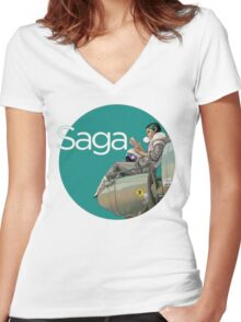 Saga - Alana Women's Fitted V-Neck T-Shirt
