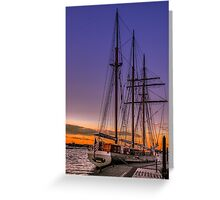 Tall Ship Mystic Greeting Card