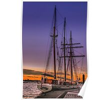 Tall Ship Mystic Poster