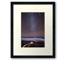 Mauna Kea Night Lines Framed Print