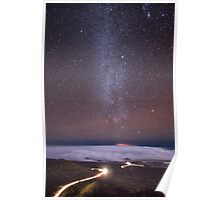 Mauna Kea Night Lines Poster
