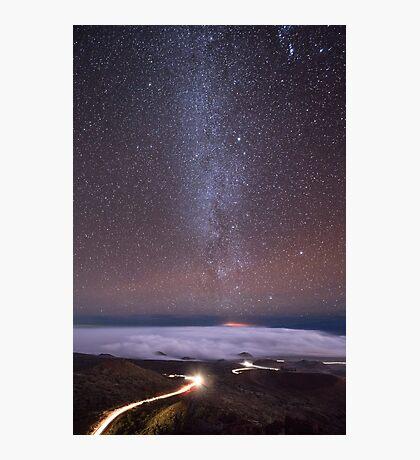 Mauna Kea Night Lines Photographic Print