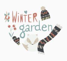 Winter garden pattern 003 Kids Tee