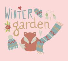 Winter garden pattern 001 Kids Tee