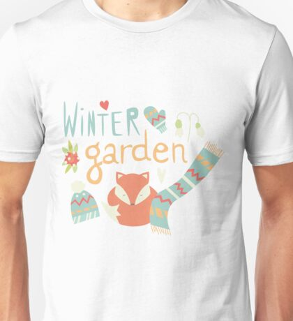 Winter garden pattern 001 Unisex T-Shirt