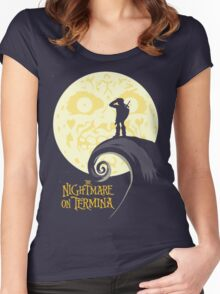 nightmare on termina Women's Fitted Scoop T-Shirt