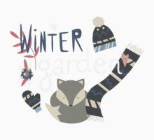 Winter garden pattern 002 Kids Tee