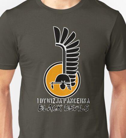 1st Armoured Division - 1 Dywizja Pancerna ' Black Devils' (Poland - Historical) Unisex T-Shirt
