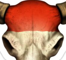 Austrian Flag Bull Skull Sticker