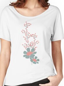 Seamless pattern design with hand drawn flowers and floral elements Women's Relaxed Fit T-Shirt