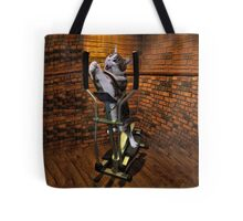 """MOM BRING ME SOME WATER THIS WORKOUT IS KILLING ME"" CAT-FELINE EXERCISE THROW PILLOW & TOTE BAG Tote Bag"