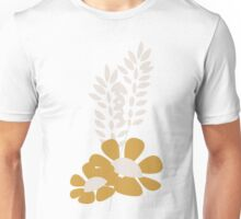Seamless pattern design with hand drawn flowers and floral elements Unisex T-Shirt