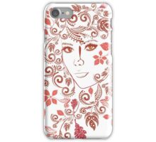 Autumn Girl with Floral 3 iPhone Case/Skin