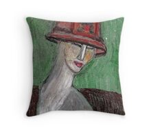 Art Deco Mannequin Throw Pillow