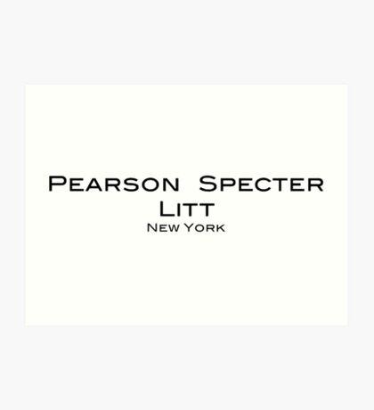 Pearson Specter Litt - Suits Art Print