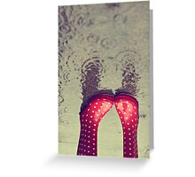 Lots of Rain Down Under Greeting Card