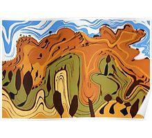 Rolling Hills near Oatlands Poster