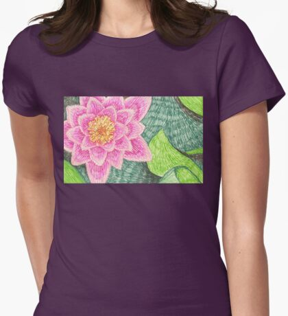 lily pond in the botanic garden Womens Fitted T-Shirt