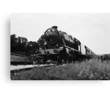 Time Travel By Steam b/w Canvas Print