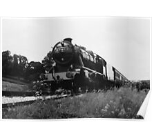 Time Travel By Steam b/w Poster