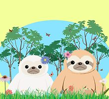 The Cutest Sloth Couple by J. Danion
