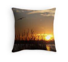 Sunset at Port Melbourne, Australia Throw Pillow
