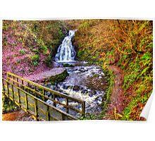 Glenoe Waterfall Poster