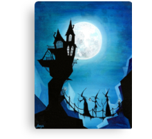 Witch Sisters Journey Home Canvas Print