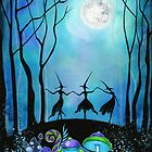 Witches Dancing Under the Moon by Annya Kai