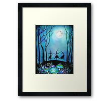 Witches Dancing Under the Moon Framed Print