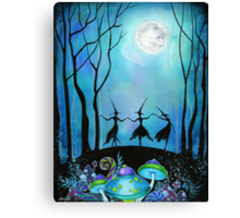 Witches Dancing Under the Moon Canvas Print