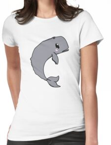 Sperm whale chibi Womens Fitted T-Shirt