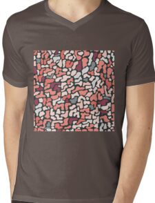 Seamless pattern with organic hand drawn rounded and stripe shapes Mens V-Neck T-Shirt