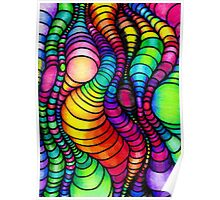 Colorful Tube Worms - Op Art Poster