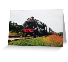 Time Travel By Steam Greeting Card